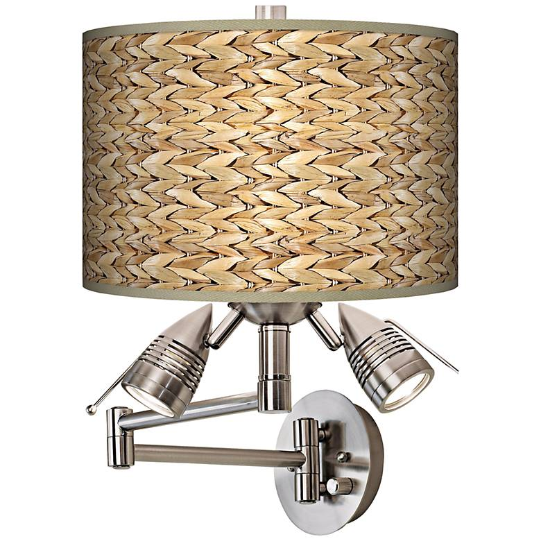 Seagrass Giclee Swing Arm Wall Light