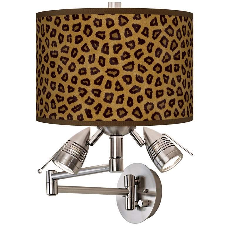 Safari Cheetah Giclee Swing Arm Wall Light