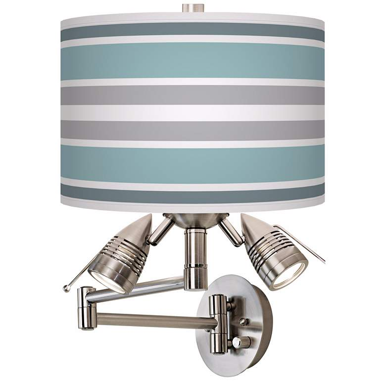Multi Color Stripes Side Light Plug-In Swing Arm Wall Lamp