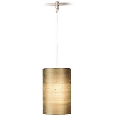 Fab Almond Satin Nickel Silk Tech Lighting MonoRail Pendant