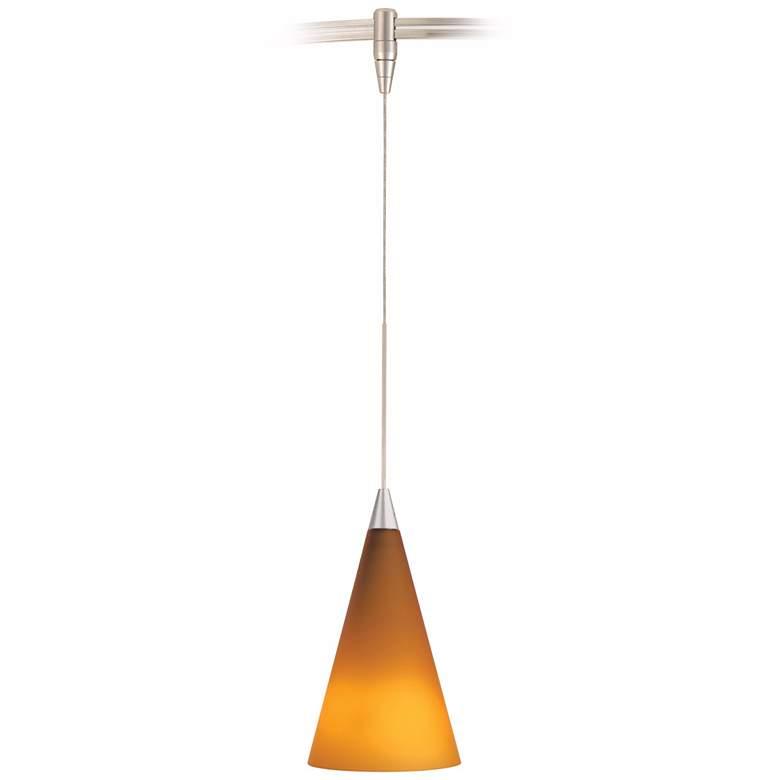Cone Satin Nickel Amber Glass Tech Lighting Monorail Pendant