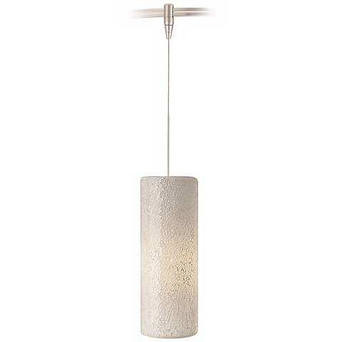 Veil White Glass Satin Nickel Tech Lighting MonoRail Pendant