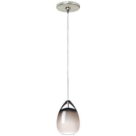 "Tech Lighting Alina 4"" Wide Smoke Glass Nickel Mini Pendant"
