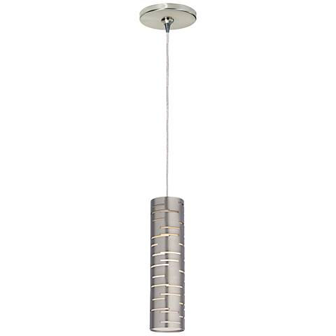 "Tech Lighting Revel 2 1/2"" Wide Satin Nickel Mini Pendant"