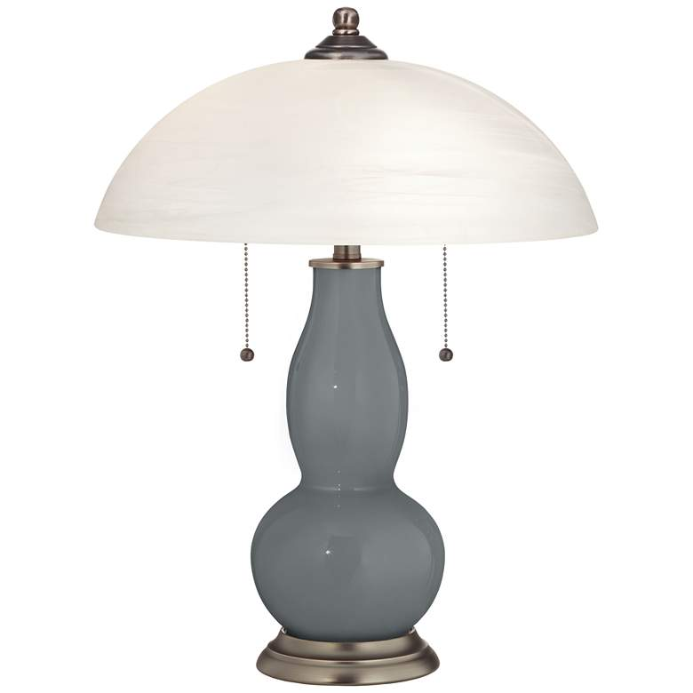 Software Gourd-Shaped Table Lamp with Alabaster Shade