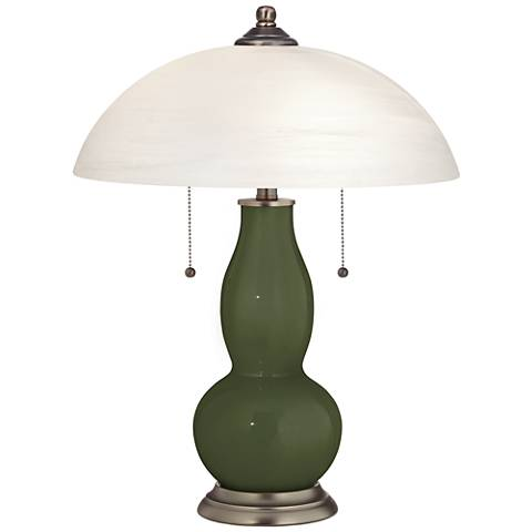 Secret Garden Gourd-Shaped Table Lamp with Alabaster Shade