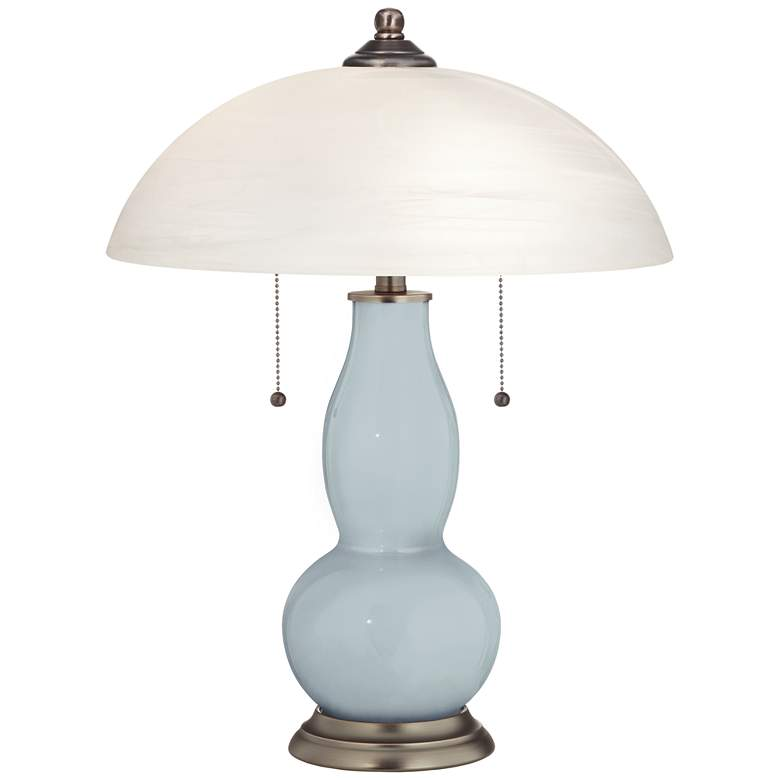 Take Five Gourd-Shaped Table Lamp with Alabaster Shade
