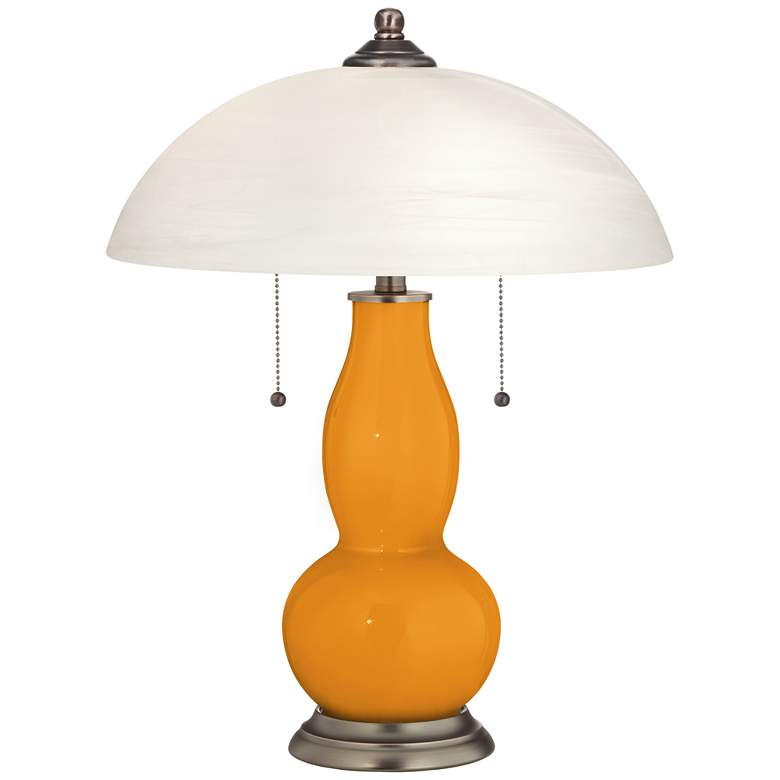 Carnival Gourd-Shaped Table Lamp with Alabaster Shade