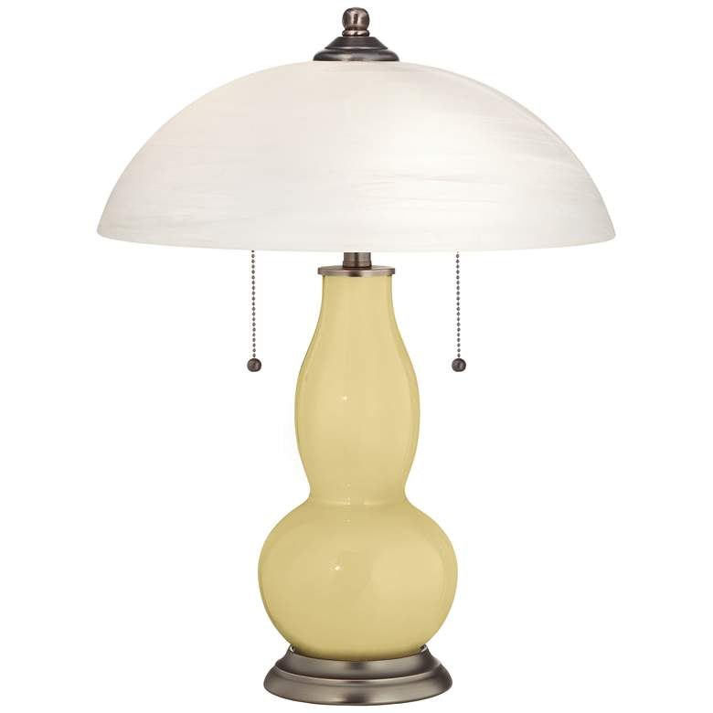Butter Up Gourd-Shaped Table Lamp with Alabaster Shade