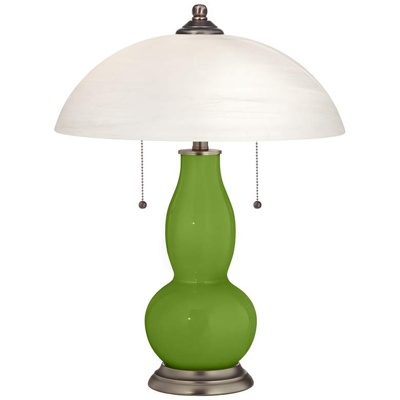 Gecko Gourd-Shaped Table Lamp with Alabaster Shade