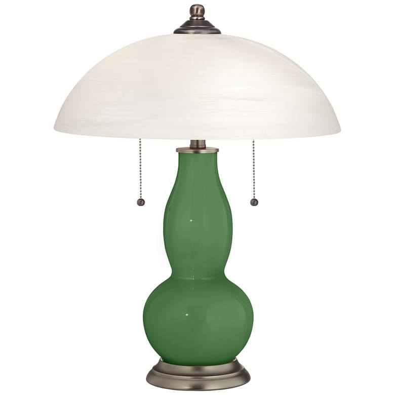 Garden Grove Gourd-Shaped Table Lamp with Alabaster Shade