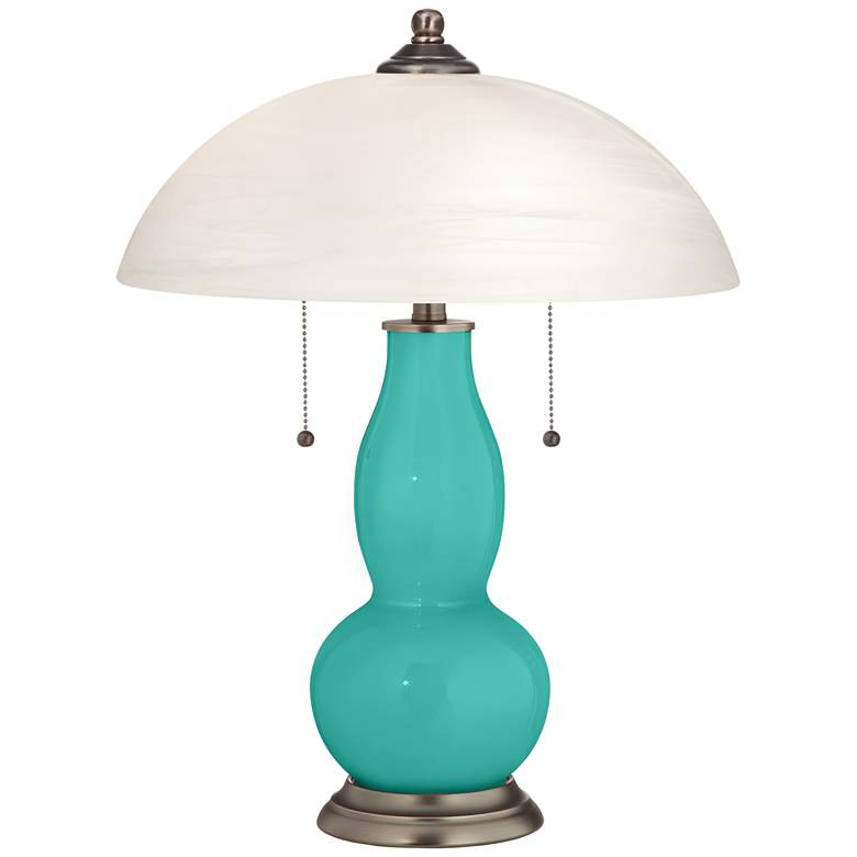 Synergy Gourd-Shaped Table Lamp with Alabaster Shade