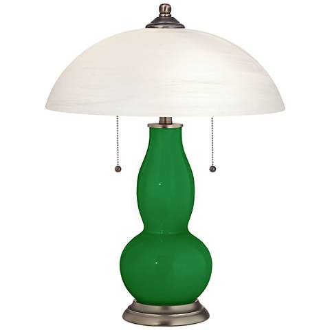 Envy Gourd-Shaped Table Lamp with Alabaster Shade