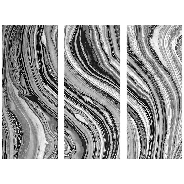 "Marble Triptych 17 1/2""x42"" Set of 3 Canvas Wall Art"