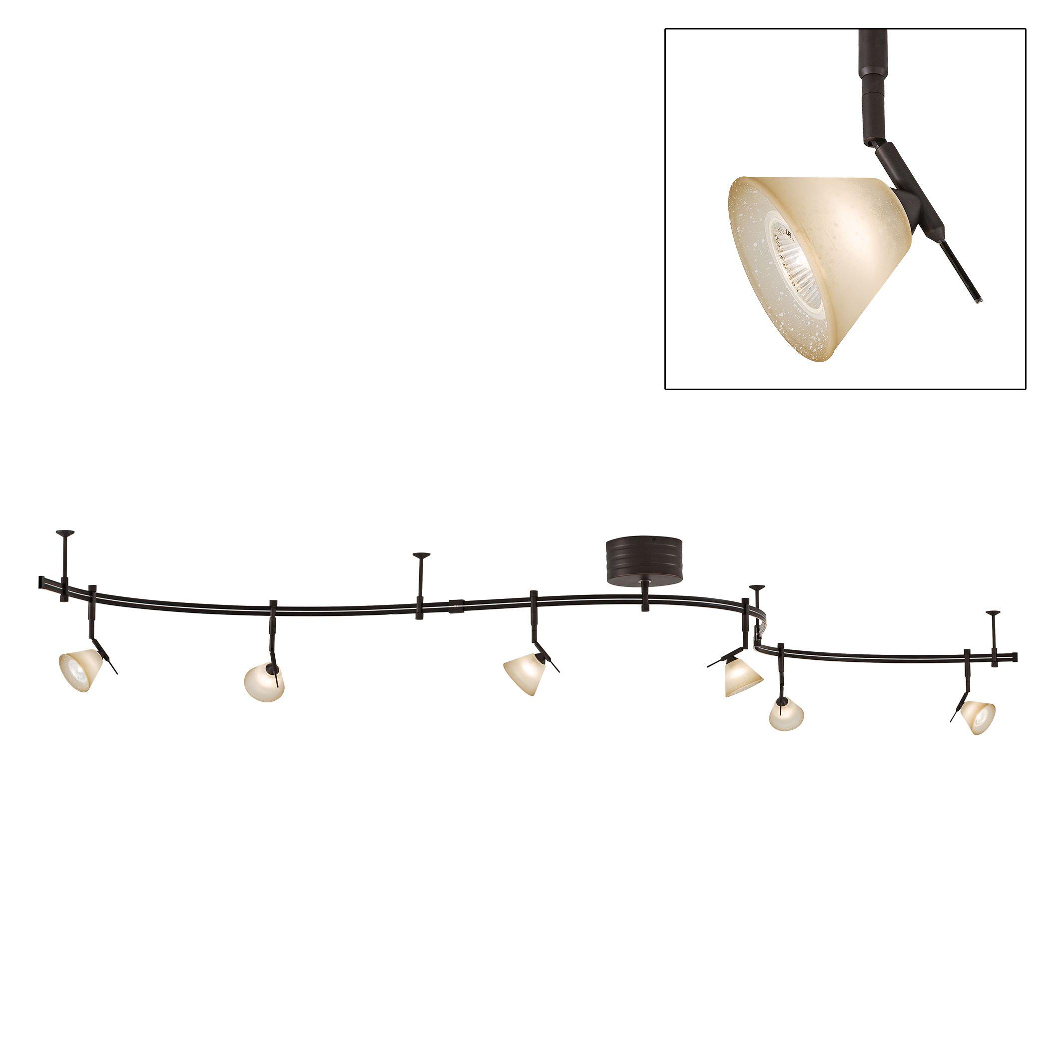 George Kovacs Bronze 6-Light Expandable Rail Track Light Kit  sc 1 st  L&s Plus & Monorail Lighting - Flexible Track Kits and Components | Lamps Plus