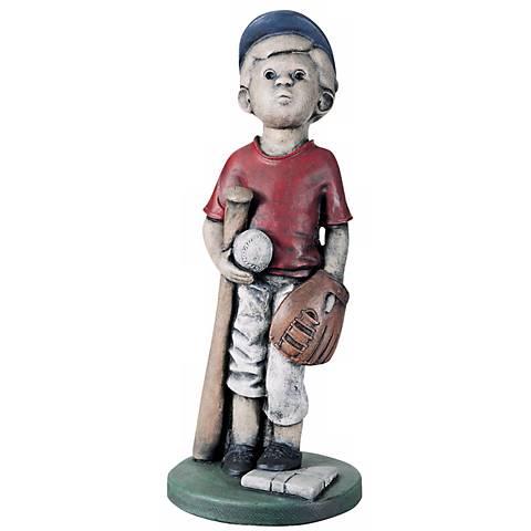 """Little Boy Baseball Player 24""""H Yard Decor Garden Sculpture"""