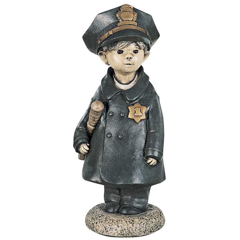 "Henri Studio Little Police Officer 18"" High Garden Accent"