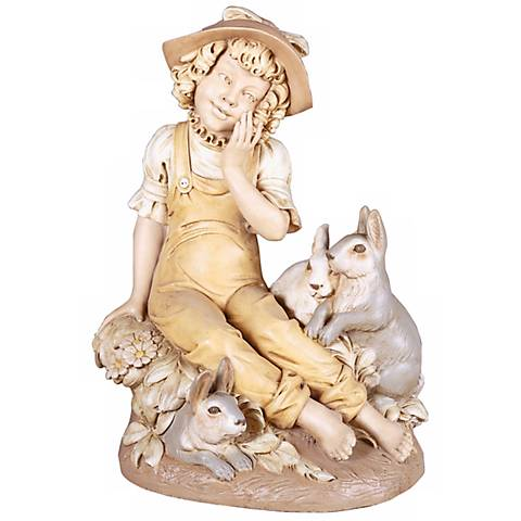 "Bonnie N' Bunnies 29"" High Yard Decor Garden Statue"