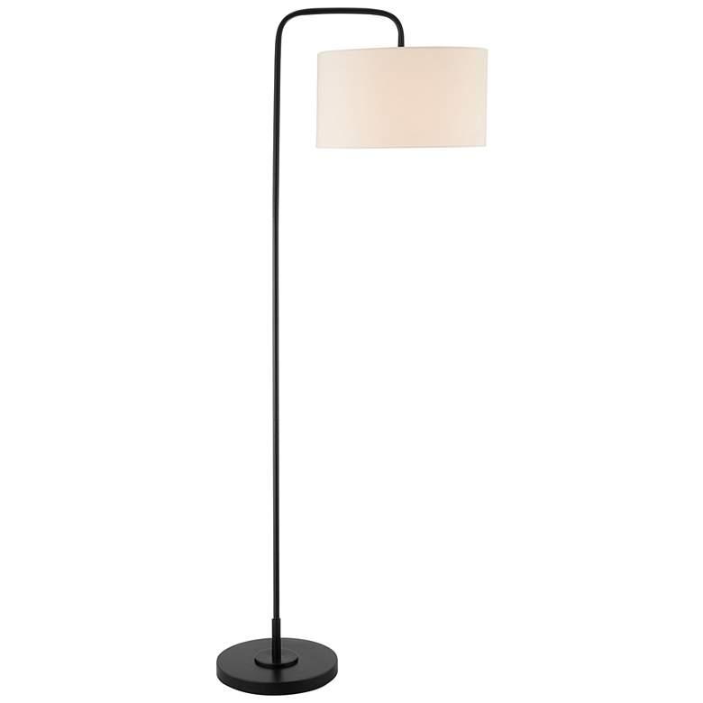 Lite Source Orea Black Metal Stem Floor Lamp