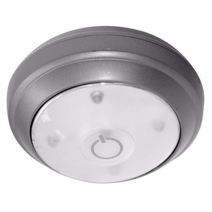 Rite Lite Battery Powered Grey Led Under Cabinet Puck Light 27955 Lamps Plus