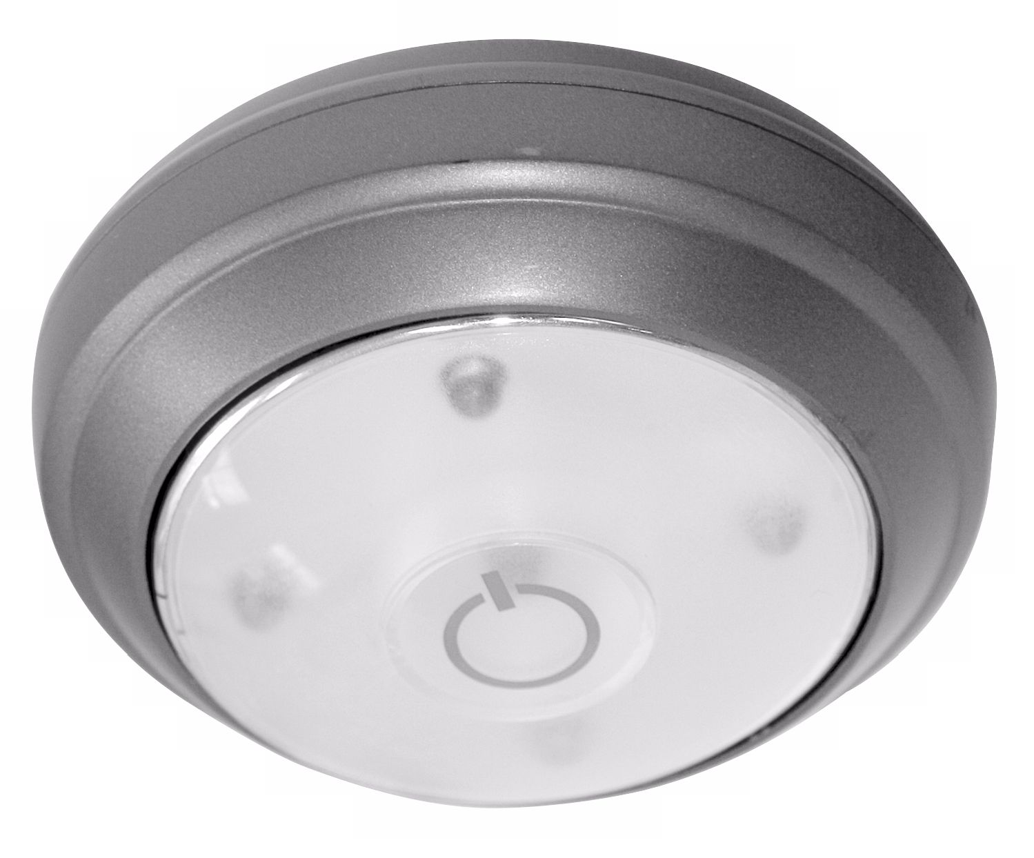 Rite Lite Battery Powered Grey LED Under Cabinet Puck Light