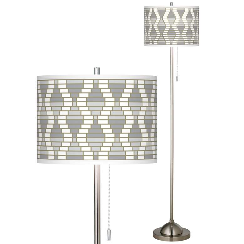 Stepping Out Brushed Nickel Pull Chain Floor Lamp