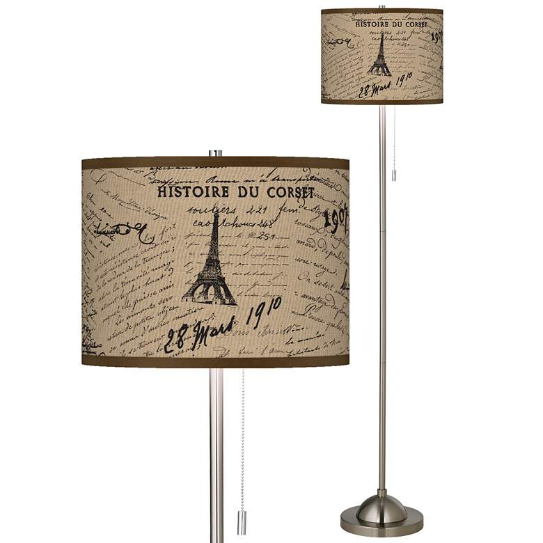 Letters to Paris Giclee Shade Floor Lamp