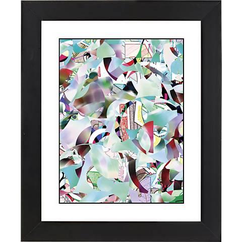 "January Black Frame Giclee 23 1/4"" High Wall Art"