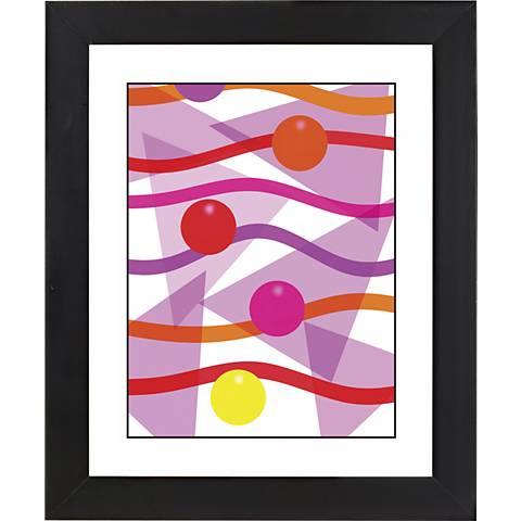 "Pink Black Frame Giclee 23 1/4"" High Wall Art"