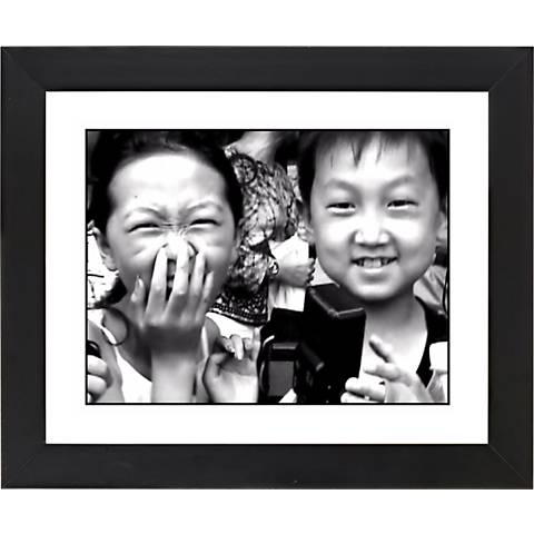 """Laughter Black Frame Giclee 23 1/4"""" Wide Wall Art"""
