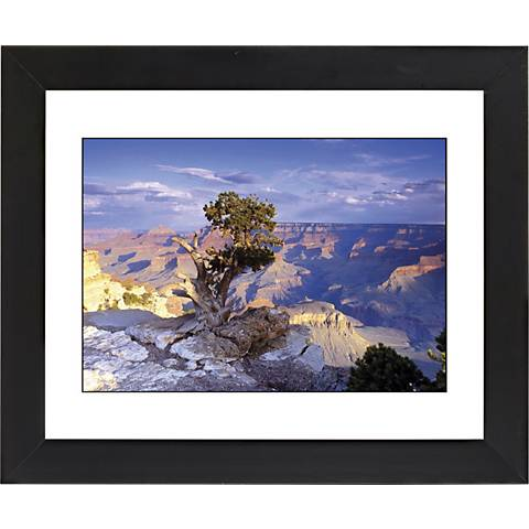 "Southwest Canyon Black Frame Giclee 23 1/4"" Wide Wall Art"