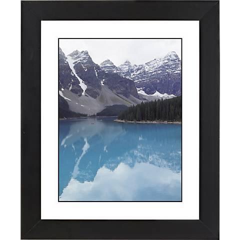 "Glacier Lake Black Frame Giclee 23 1/4"" High Wall Art"