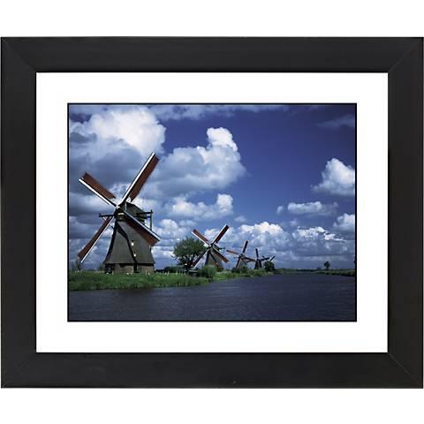 "Weinmill Line Black Frame Giclee 23 1/4"" Wide Wall Art"