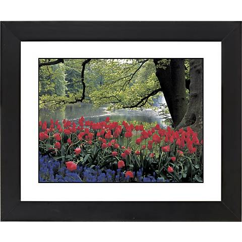 """Red Spring Black Frame Giclee 23 1/4"""" Wide Wall Art"""
