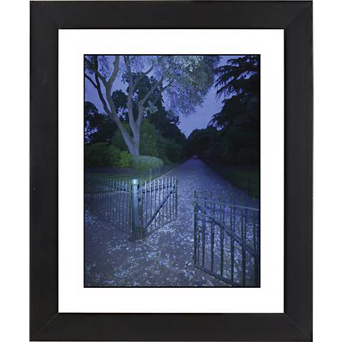 "Blue Gate Black Frame Giclee 23 1/4"" High Wall Art"