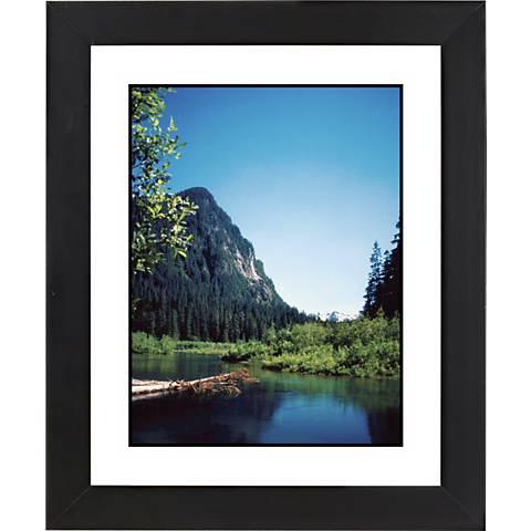 "Rocky Mountain View Black Frame Giclee 23 1/4"" High Wall Art"