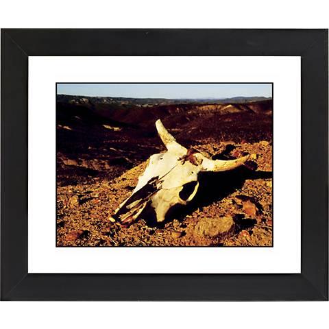 """Desert Skull Black Frame Giclee 23 1/4"""" Wide Wall Art"""