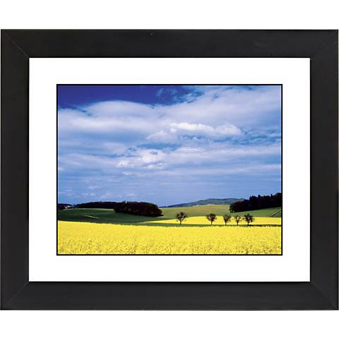 "Mustard Flowers Black Frame Giclee 23 1/4"" Wide Wall Art"