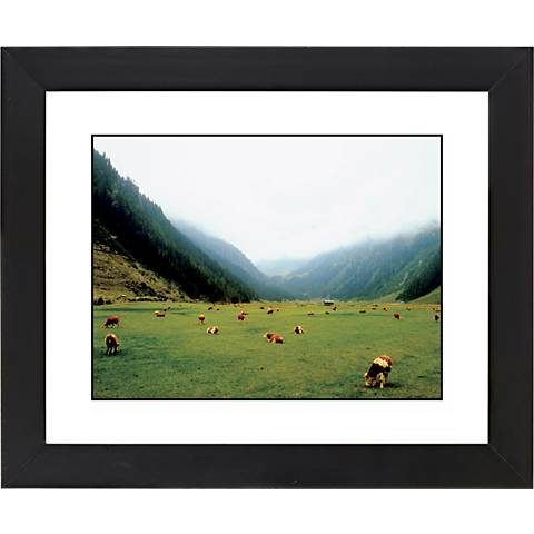 "Alpine Pasture Black Frame Giclee 23 1/4"" Wide Wall Art"
