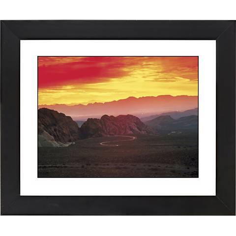"""Desert Mesa Sunrise Black Frame Giclee 23 1/4"""" Wide Wall Art"""