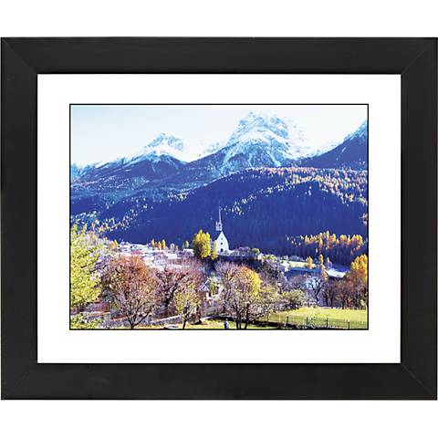 "Alpine Church Black Frame Giclee 23 1/4"" Wide Wall Art"