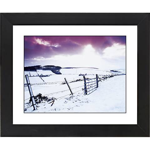 """Snow Fence Black Frame Giclee 23 1/4"""" Wide Wall Art"""
