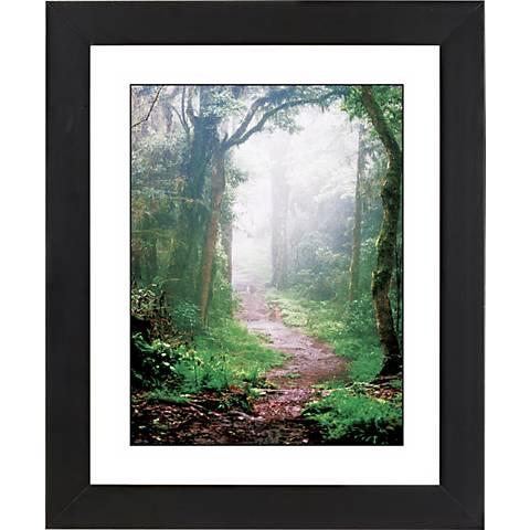 "Misty Forest Black Frame Giclee 23 1/4"" High Wall Art"