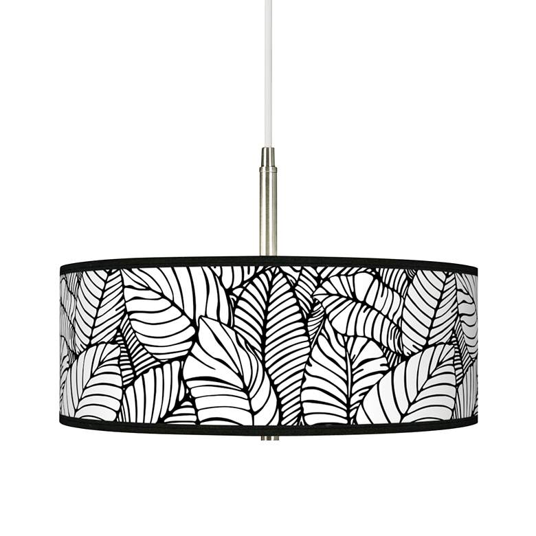 Tropical Leaves Giclee Pendant Chandelier