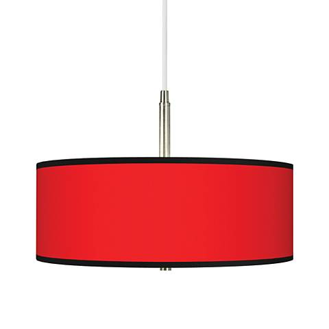 All Red Giclee Pendant Chandelier