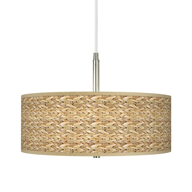 Seagrass Giclee Pendant Chandelier