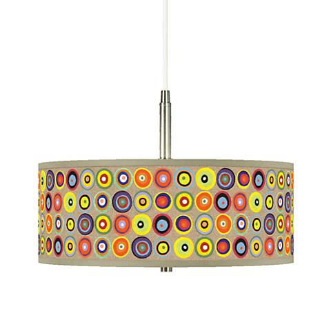 "Marbles in the Park Giclee 16"" Wide Pendant Chandelier"
