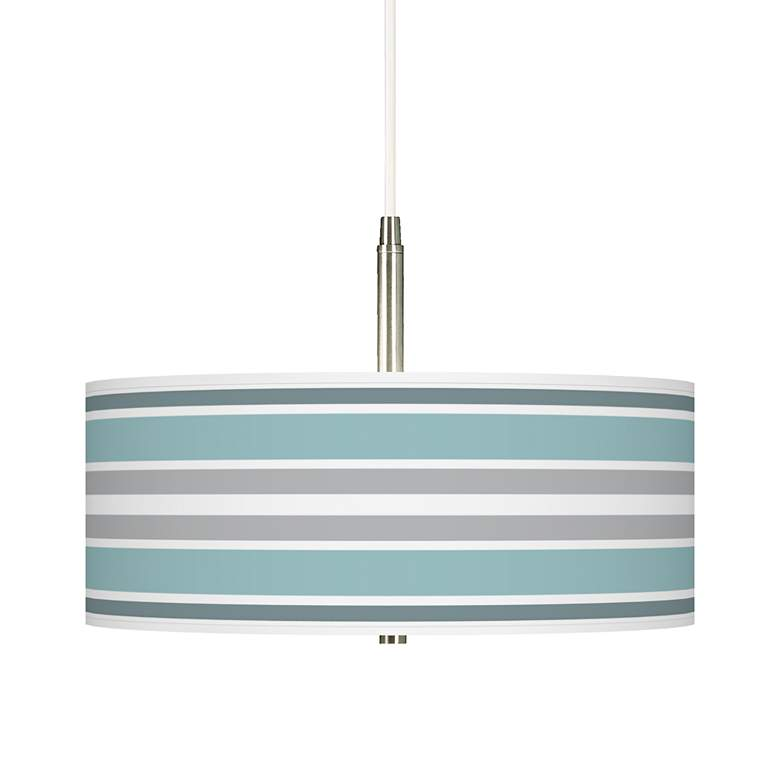 Multi Color Stripes Giclee Pendant Chandelier