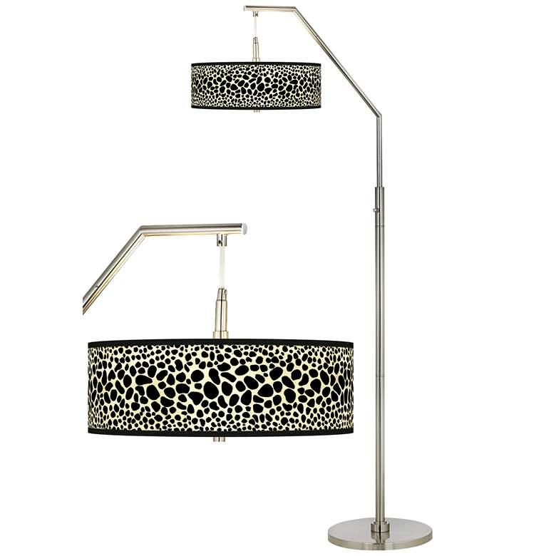 Leopard Giclee Shade Arc Floor Lamp
