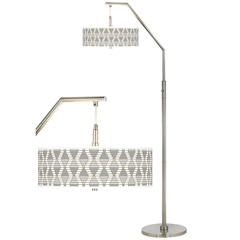Stepping Out Giclee Shade Arc Floor Lamp